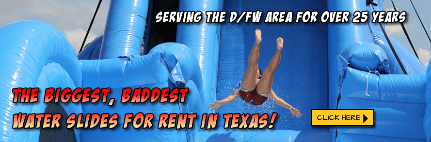The Biggest, Baddest, Giant Water Slides for Rent in Texas