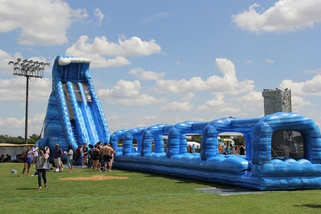Blue Crush giant water slide rental - pic 2