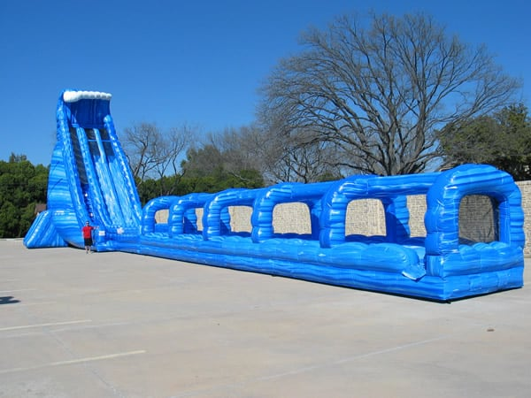 Huge 36 Ft Tall Blue Crush Water Slide Rental Dallas