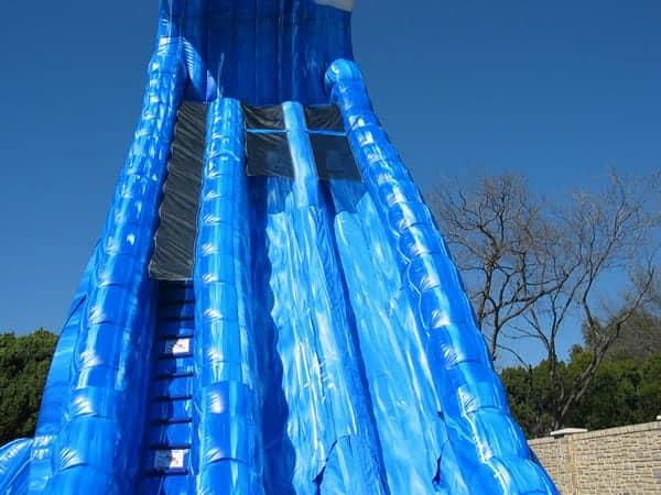 Huge 36 Ft Tall Blue Crush Water Slide Rental Dallas