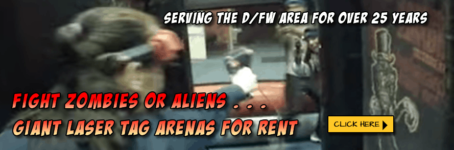 Fight Zombies or Aliens – Giant Laser Tag Arenas for Rent