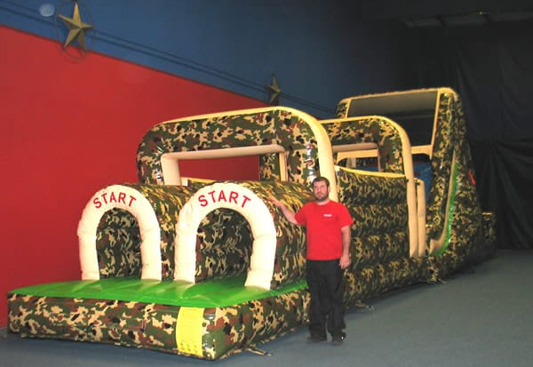camo obstacle course rental