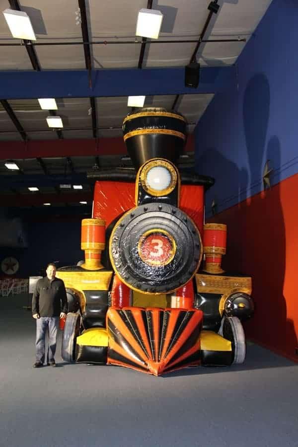children's train bounce house