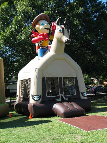 cody cowboy bounce house