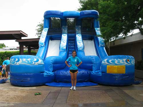 Double Splash Water Slide Rental