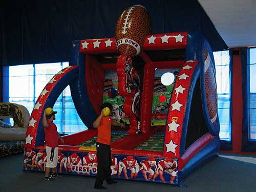 first down sports inflatable game rental