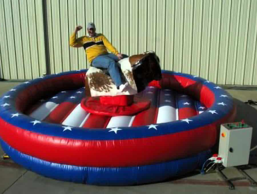 Mechanical Bull- USA Red, White, and Blue