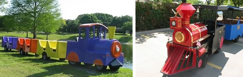 trackless trains for kids party rentals
