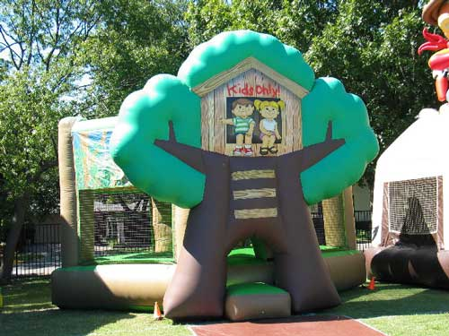Tree House Bounce House Dallas Party Rental