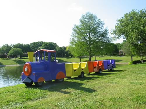 childrens trackless train for rent