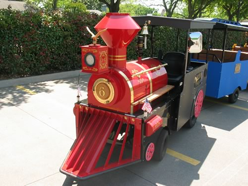 texas star trackless train rental