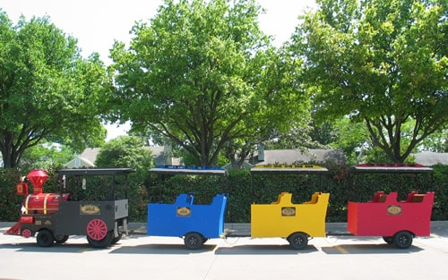 The Texas Star Express Trackless Train for Rent Dallas Party Rental