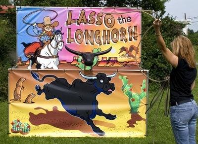 Lasso the Longhorn - Carnival Game Rental