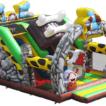 Stone Age Adventure – Bounce House with 2 Slides – Party Rental