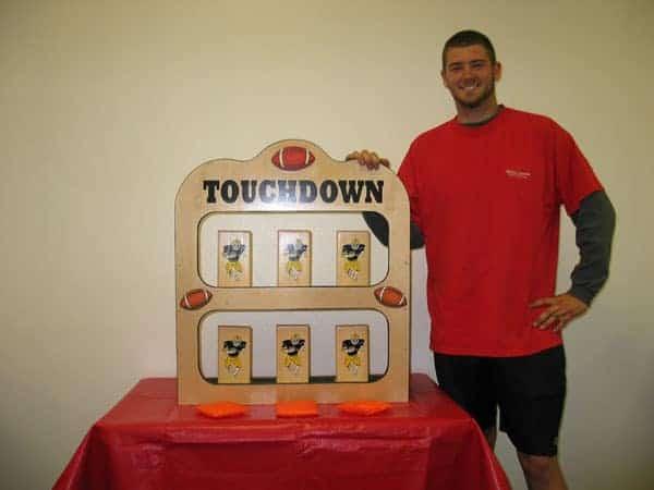 Touchdown Toss - Bean Bag Carnival Game