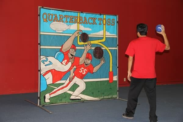 football toss frame game rental