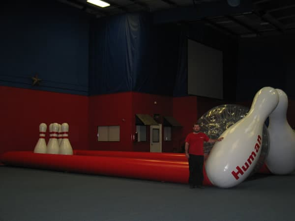 Human Bowling Game Rental