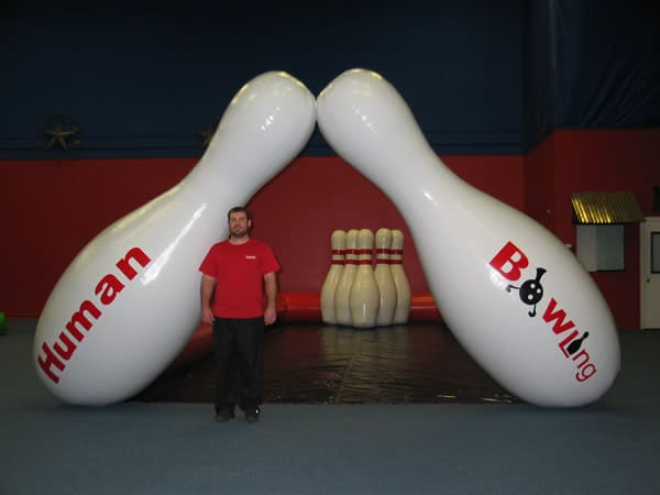 Human Bowling Giant Inflatable Game For Rent Dallas