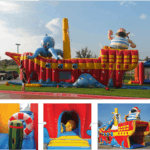 pirate ship - bounce house/slide - rental