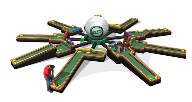 Play a Round of Mini Golf Party Rental