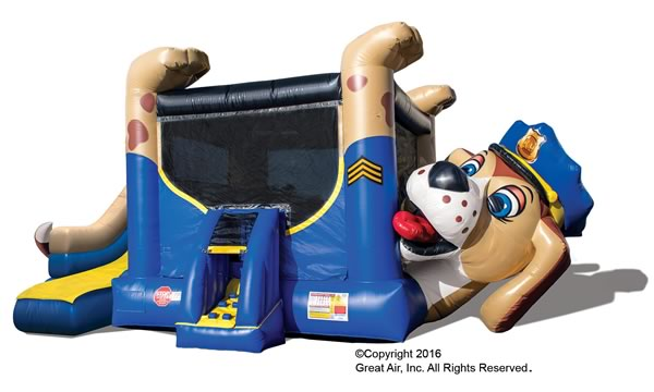 Admirable Police Dog Bounce House Slide Combo Dallas Party Rental Home Interior And Landscaping Spoatsignezvosmurscom