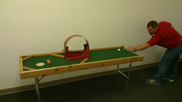 Pool Golf Hole Course Table Game Dallas Party Rental - Pool table rental dallas