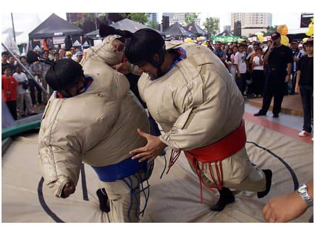 Sumo Wrestling Suits - In Action