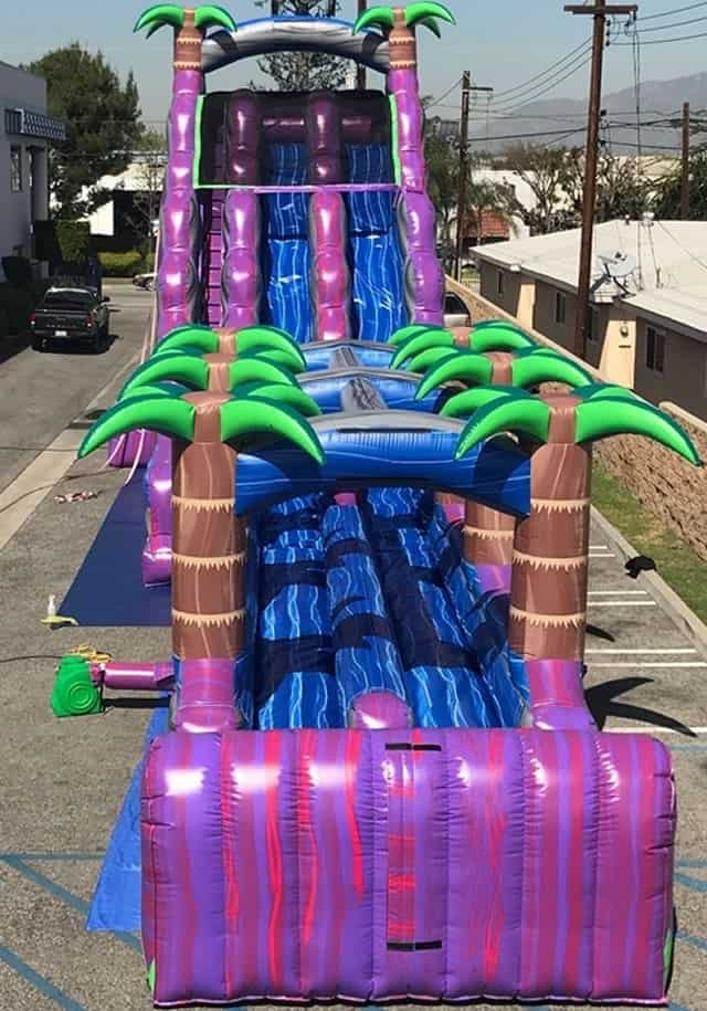 Purple Crush 27 Tall Dual Lane Water Slide Dallas