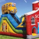 school & bus obstacle course for rent