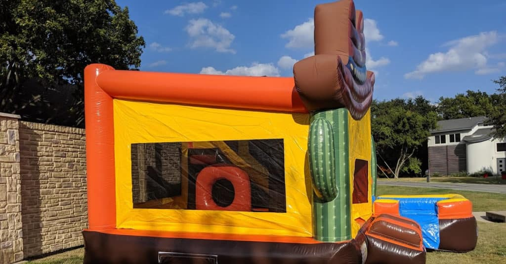 Left Side View - Western Bounce House